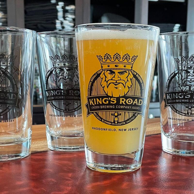 Kings Road Black Logo Pint Glass