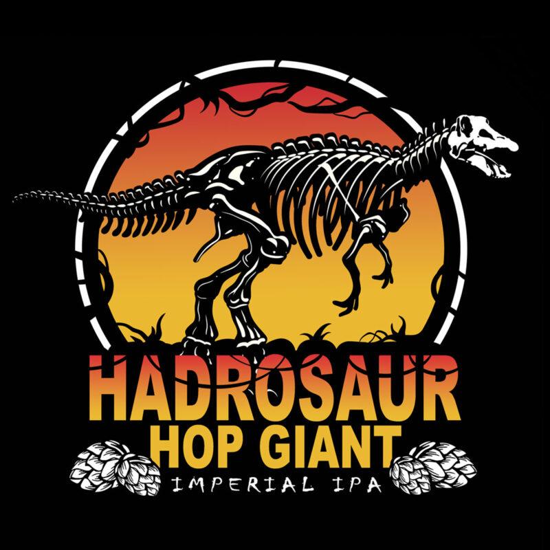 Hadrosaur Hop Giant unisex Black Tee