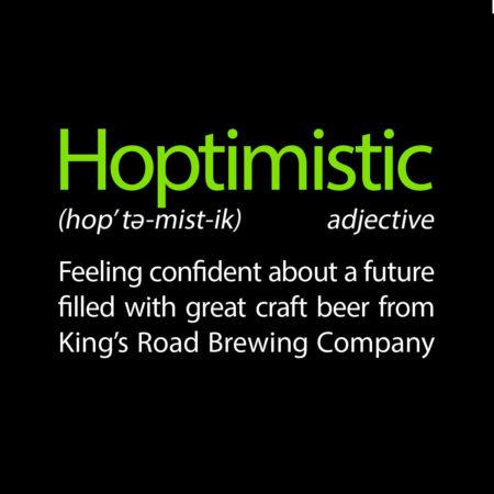 Hoptimistic unisex Black Tee