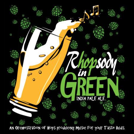Rhopsody in Green unisex Black Tee